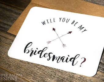 Bridal Party Proposal Card. Ask Bridesmaid Proposal Card. Bridesmaid Invite. Maid of Honor Proposal Question. Wedding Party Proposal Cards.