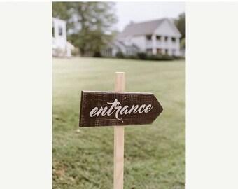 ON SALE Wedding Arrow Sign