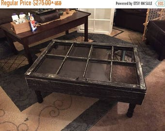 ON SALE rustic coffee table shadow box coffee table