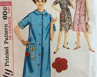 Simplicity 5251 misses duster size 12 bust 32 or size 14 bust 34 Uncut Factory folds vintage 1960's sewing pattern