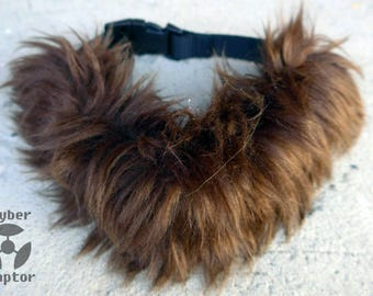 Fluffy Faux Fur Collar - BROWN