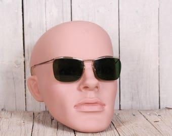1950s sunglasses - Vintage sunglasses - Metal framed sunglasses - Green sunglasses - Retro sunglasses - 50s fashion - Retro style sunglasses