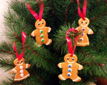 Gingerbread man, Christmas tree decorations, Gingerbread decorations, Hanging Christmas decorations, Polymer clay, Christmas decor
