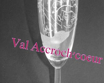 Champagne glass fairy to personalize