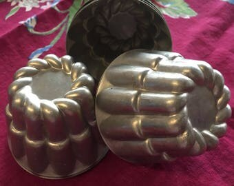 Bakery tins pastry molds candy soap craft tins bulk cooking wedding display candles vintage