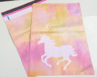 Free Shipping!!  20 Brand New UNICORN PRINT 10x13 Flat Poly Mailers Postal Package Envelopes Bags