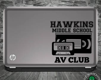 Hawkins Middle School AV Club Decal