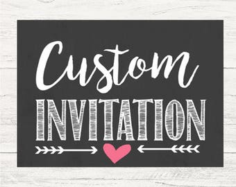 Custom invitation digital