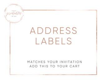 Matching Address Labels, Address Labels, Engagement Party, Baby Shower, Bridal Shower, Wedding Invitations, Printable Invitations, Custom