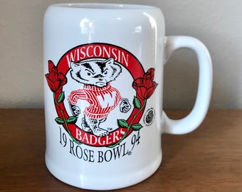 Vintage Wisconsin Badgers Mug
