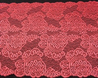 RED CALAIS LACE