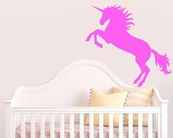 Unicorn, Wall Sticker,  Kids room, Interior Sticker,  Window Sticker, Car Sticker, Wall Decal, Wall Decor