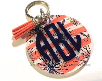 Monogram Acrylic Keychains, 2.5 Inch Circles with 1 Hole, tassel Keychain, monogram acrylics, circle keychains, monogram keychain gift