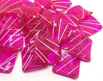 Pink & white Beads, Magenta Painted Beads, 29mm Beads, big acrylic beads, bracelet, necklace, acrylic bangle beads, pink jewelry bracelet