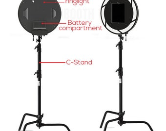 C-Stand ipad ringlight Photobooth for 10.5 in IPAD