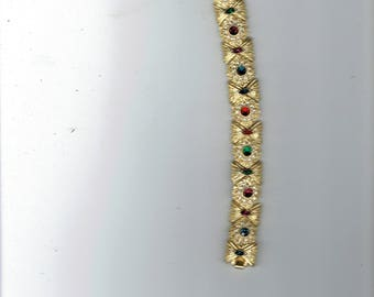 bracelet with multistones 7 inch long