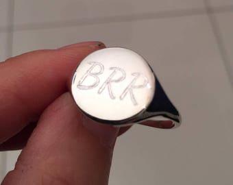 Signet Rings, Gold Ring / silver ring, Signet Ring, women ring, men ring, Initial ring, Gift for Her, Gift for Him, Pinky ring