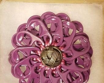 Purple hair pin | soda tab | handmade | upcycle | READY TO SHIP