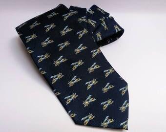 Vintage silk aeroplane tie