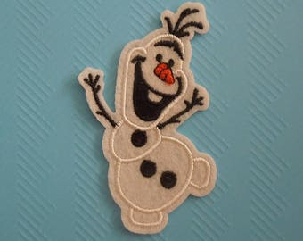 Olaf Patch -  Snow Man Patch - Frozen Patch - Disney Iron On Patch - Applique Embroidered Patch - Sew on Patch