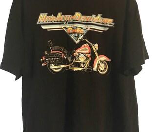 Vintage 90's Harley Davidson Motorcycle New York Cafe T-Shirt Size XXL  w/ FREE Pin