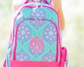 Monogrammed Backpack, Girls Backpack, Full Size Backpack, Bookbag,  Girls Bookbag, Monogram Bookbag, Girls Back To School