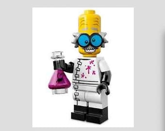 Lego Mad Scientist Minifig Magnet or Push Pin/Thumb Tack Your Choice