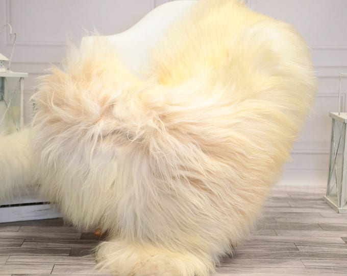 Icelandic Large Sheepskin   Real Sheepskin Rug   Ivory Sheepskin Rug   Fur Rug    Home decor #JANISL40