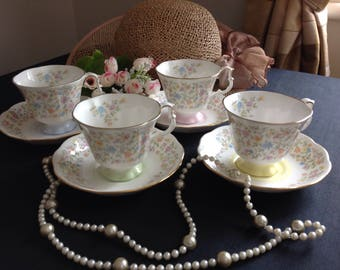 Royal Albert Harmony , original set four,  only made between 1983-1987.   Chintz pattern.