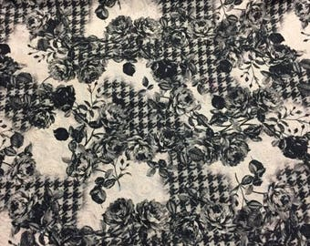 """3-D Lace Embroidered Tulle with Houndstooth Floral Pattern, Price is per Yard, 54"""" wide"""