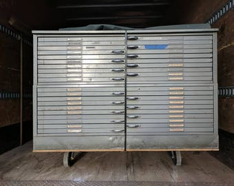 Double Flat File - Map Cabinet