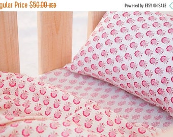 on sale Ella baby girl crib bedding set in shades of pink and Bordeaux