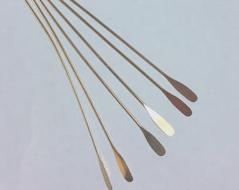 50 gold plated brass 2 inch, 22 gauge paddle headpins