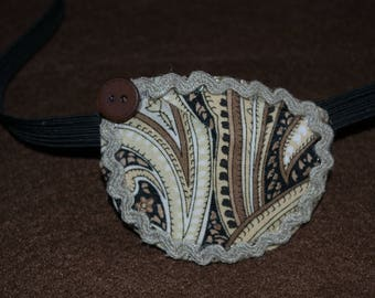 Black and Brown Paisley Pattern Eyepatch