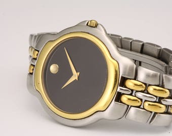 Mens Movado Museum 81.A2.880 Two Tone Stainless Steel Watch