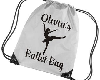 Personalized Ballet Bag with Name Gym/PE/Drawstring Bag