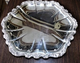 Vintage Silver, Serving Tray, International Silver, Silver Tray, Vintage serving Tray, Tray, Art Nouveau, Wedding, Gift, Silver Plate Tray