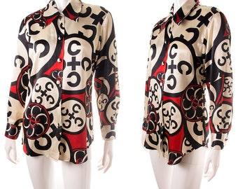 Vintage Moschino 90s Cheap and Chic Satin Shirt