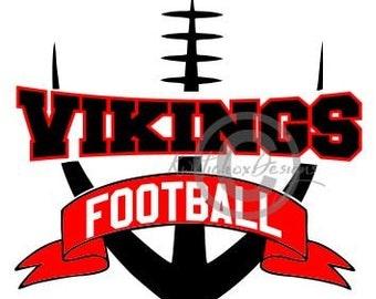 Vikings Football Svg, Viking Svg, Football Svg, Football Dxf