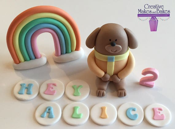 rainbow cake topper hey duggee edible cake topper rainbow name sugar fondant 6945