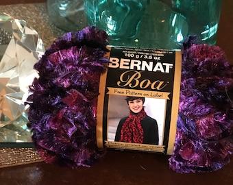 Bernat Boa Yarn Purple