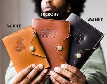 Huge SALE 50% OFF... Refillable Leather Snap Journal... Handmade in Portland, Oregon ...Small only 24 dollars!