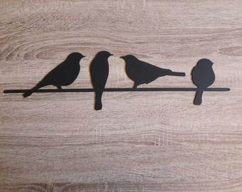 Metal Bird Wall Art, Birds On A Wire Wall Art, Metal Wall Art, Part 16