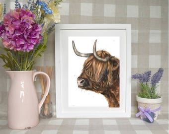 Limited edition 'Hamish the highland' print