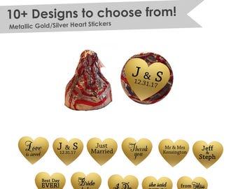 Wedding Kisses Stickers- Wedding Hershey Kiss® Labels- Wedding Hershey Kiss® Stickers- hershey kiss® stickers wedding- stickers gold
