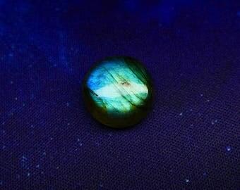 Round Blue Labradorite Cabochon 17 mm