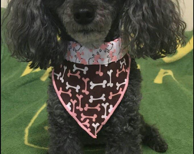 PET BANDANAS-Pink Poodles n' Bones