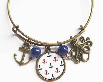 Metal sea themed Stretch Bracelet