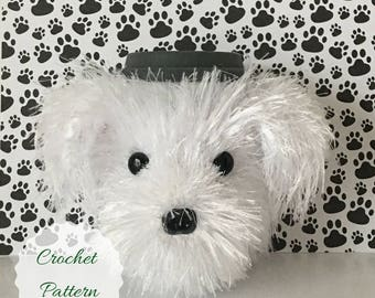 Bichon Crochet Pattern, Dog Crochet Pattern, Amigurumi Dog, Crochet Pattern Dog, Crochet Dog Pattern, Mug Cozy Pattern, Amigurumi Pattern