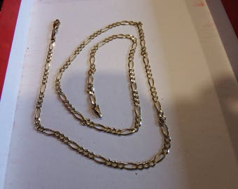 "14k Yellow gold Figaro Chain /Neclace- 22"" - 7.1 grams"